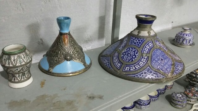 Estaño sobre cerámica en Fes