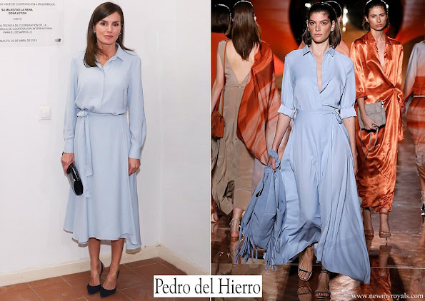 Queen Letizia wore Pedro del Hierro dress from 2019 Collection