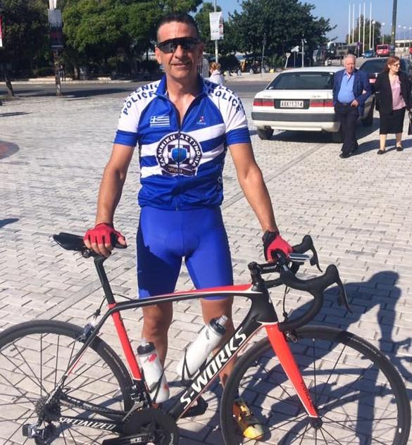 Στην ομάδα ποδηλασίας της ΕΛ.ΑΣ. ο Πέτρος Σμυρνιωτάκης από την Αργολίδα