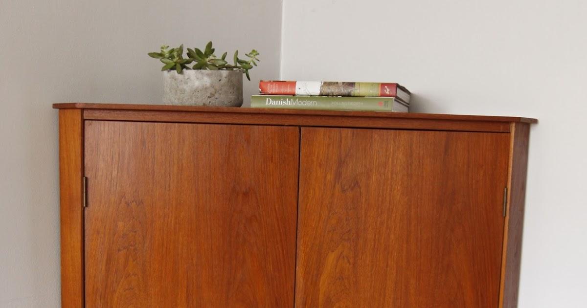 str8mcm Danish Modern Corner Cabinet