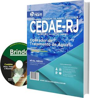 apostila concurso Companhia Estadual de Águas e Esgotos RJ - CEDAE RJ 2016.