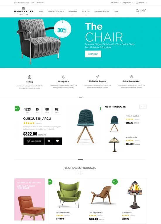 HappyStore   Furniture   Interior Joomla Template. Best Joomla Interior Design   Furniture Website Templates