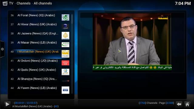 إضافة PVR على برنامج KODI لتفعيل إضافة LIVE TV لمشاهدة ألاف القنوات على KODI