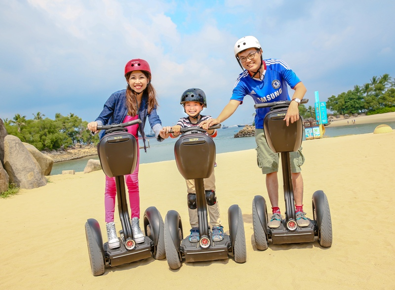 sentosa gogreen segway sandsational fun ride