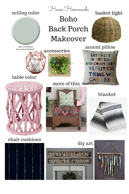 Boho Patio Design Board | House Homemade