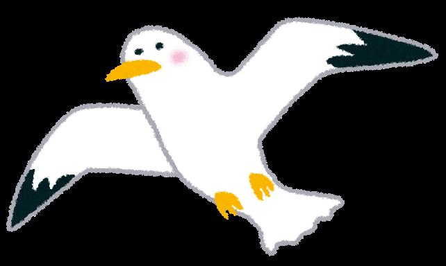 飛ぶカモメのイラスト鳥 かわいいフリー素材集 いらすとや