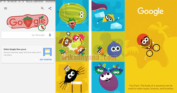 Cara Main Game Doodle Fruit Google Di Android