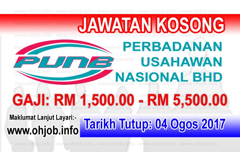Jawatan Kerja Kosong Perbadanan Usahawan Nasional - PUNB logo www.ohjob.info ogos 2017