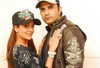 Pakistan Cricketer Osman with Bollywood actress Amrita