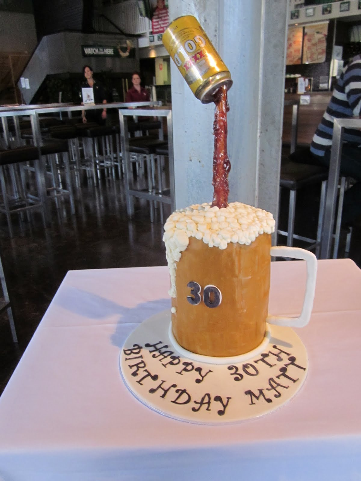 Deb S Cakes And Cupcakes Beer Stein 30th Birthday Cake