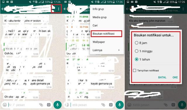 Cara Menonaktifkan Pemberitahuan Grup WhatsApp