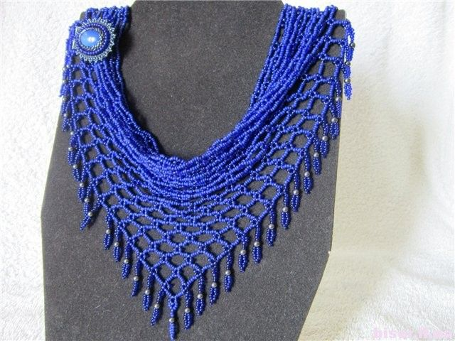How to Make a Beaded Net Scarf Necklace and Inspirations ...