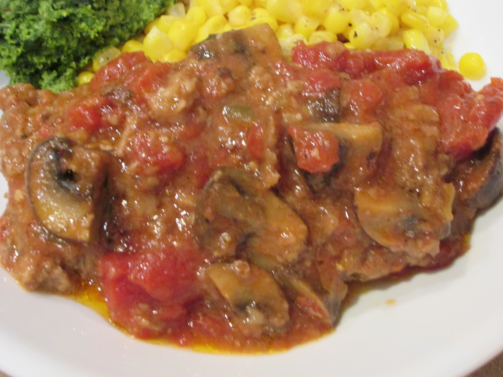 Swiss Steak with Stewed Tomatoes