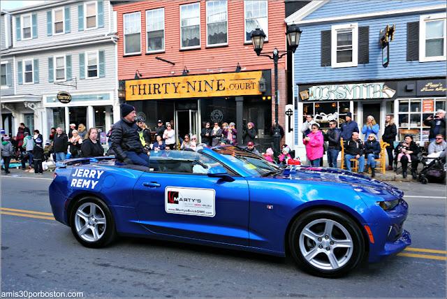 Jerry Remy en el Desfile de Acción de Gracias de Plymouth