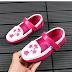 Giày nữ da hồng trẻ em bán buôn