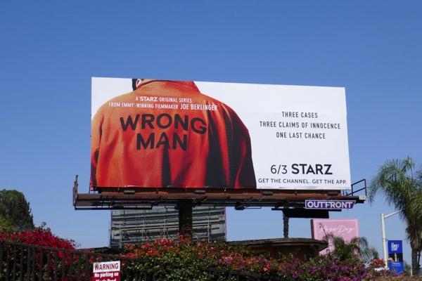 Wrong Man series premiere billboard