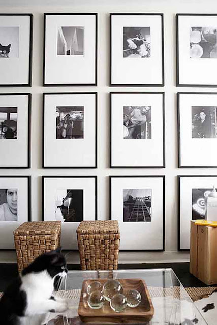 black and white gallery wall via belle vivir blog