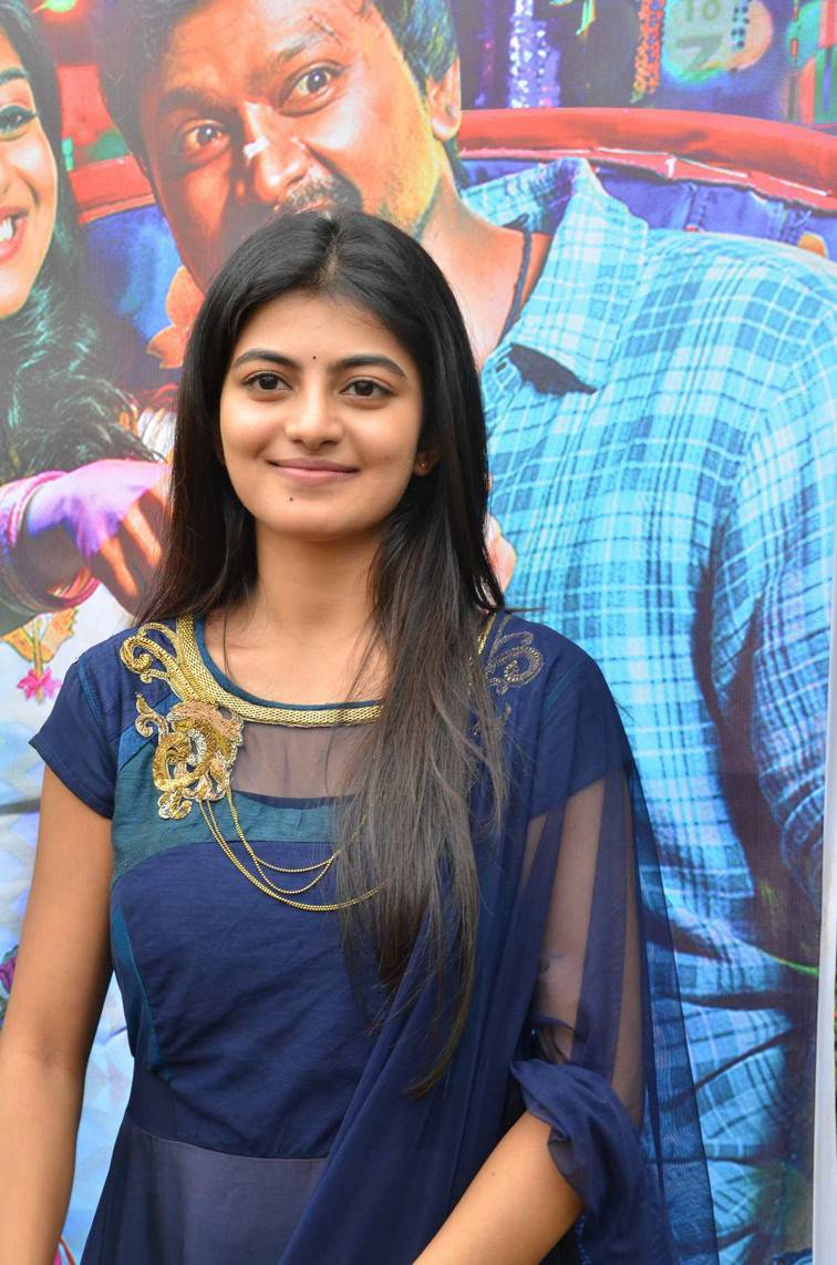 Beautiful Telugu Girl Anandhi Long Hair Photos In Black Dress