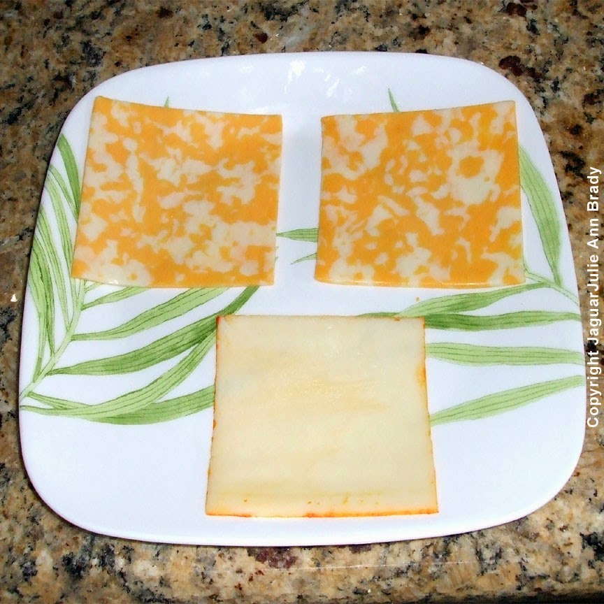 the cheese for a spicy grilled cheese sandwich