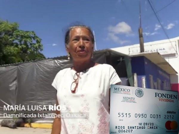 VIDEO: Denuncian tarjetas sin fondos para damnificados en Oaxaca.
