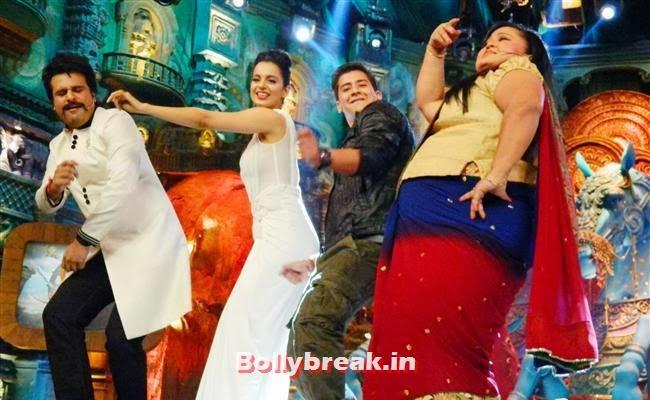 Krishna Abhishek, Kangana Ranaut, PAras Arora and Bharti Singh, Kangana Ranaut on Comedy Circus for Rajjo Promotion