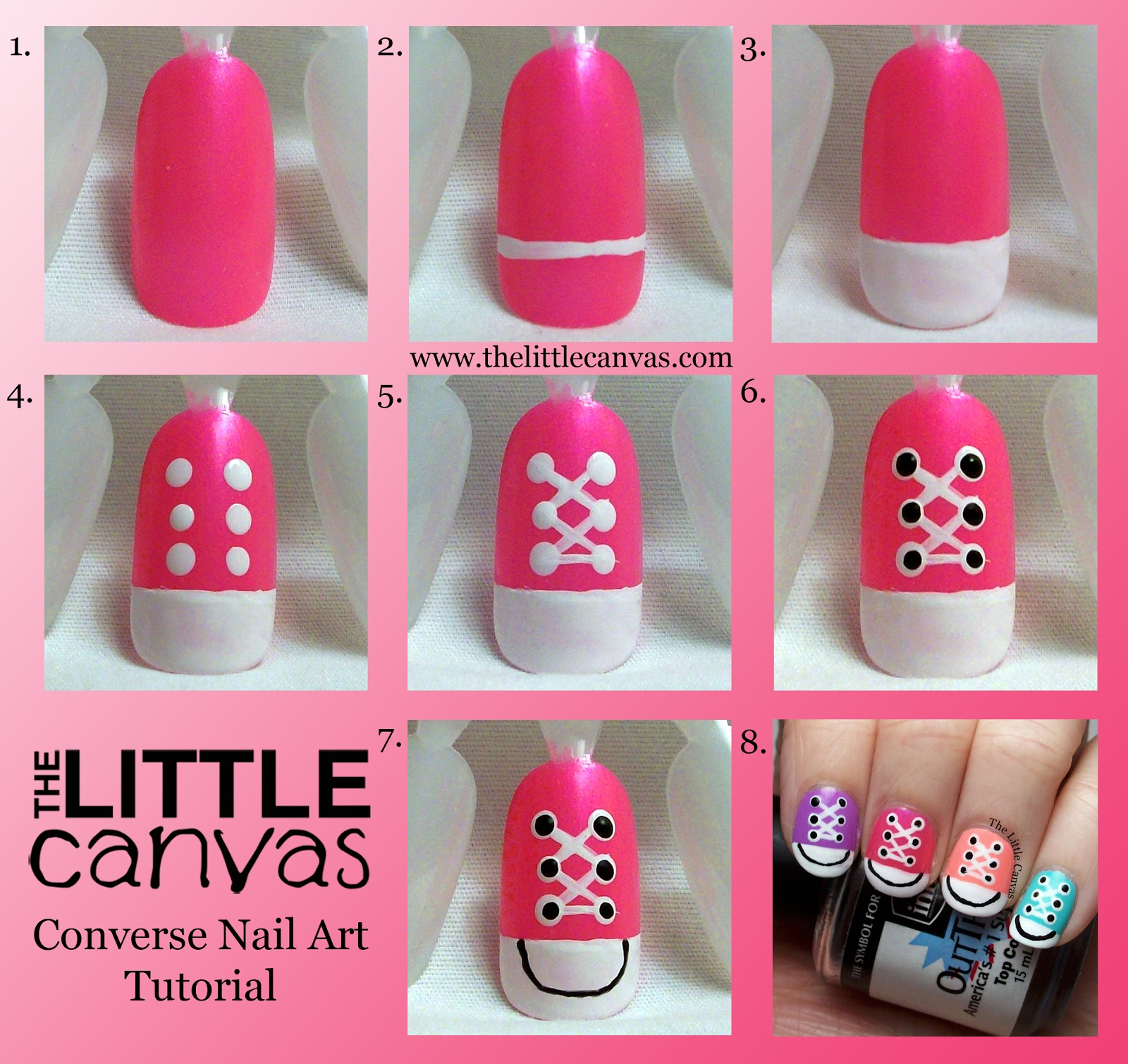 Nail Art Couture Converse Nail Art: Converse Nail Art Take 2 + Tutorial!