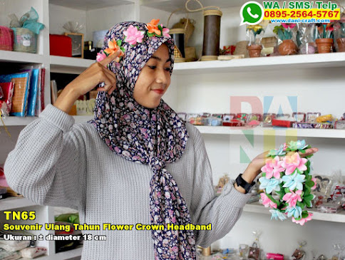 Souvenir Ulang Tahun Flower Crown Headband