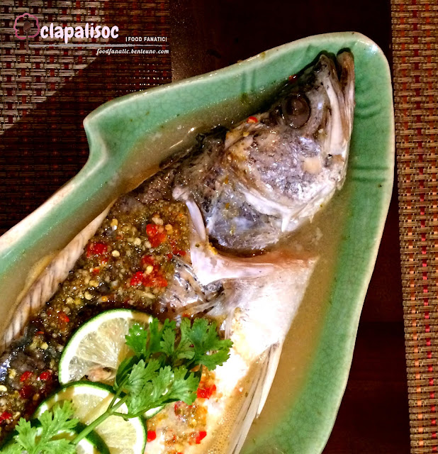 Pla Krapong Neung Ma Now from Mango Tree, sea bass