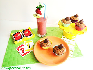 Muffin alla carota e cioccolato al latte - Frullato di frutta