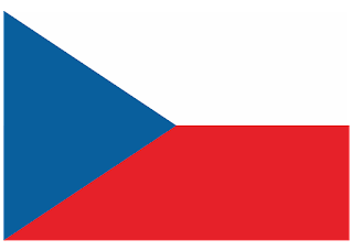 Czech Republic flag Logo Vector