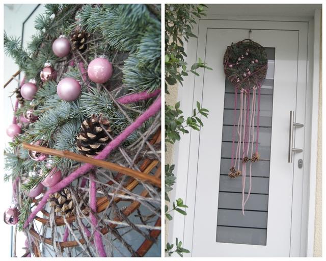 Weihnachtsdeko für die Haustür