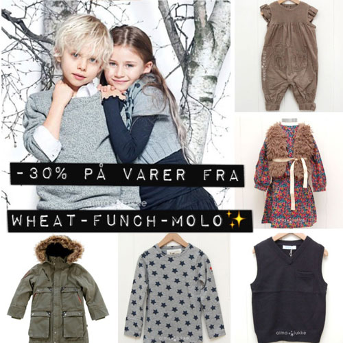 1b3b4143 Vi har fremdeles 30% på klærne fra Funch og yttertøyet fra Molo så her det  bare å klikke seg inn i nettbutikken og sikre seg noen godbiter :)