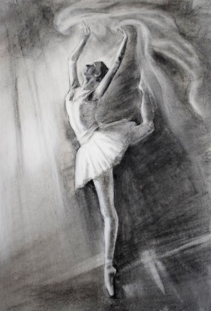 Black And White Dance Paintings