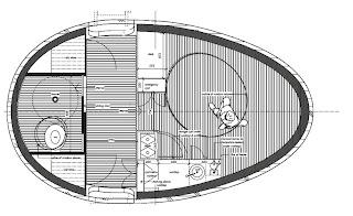 Los planos de la ingeniosa casa flotante.