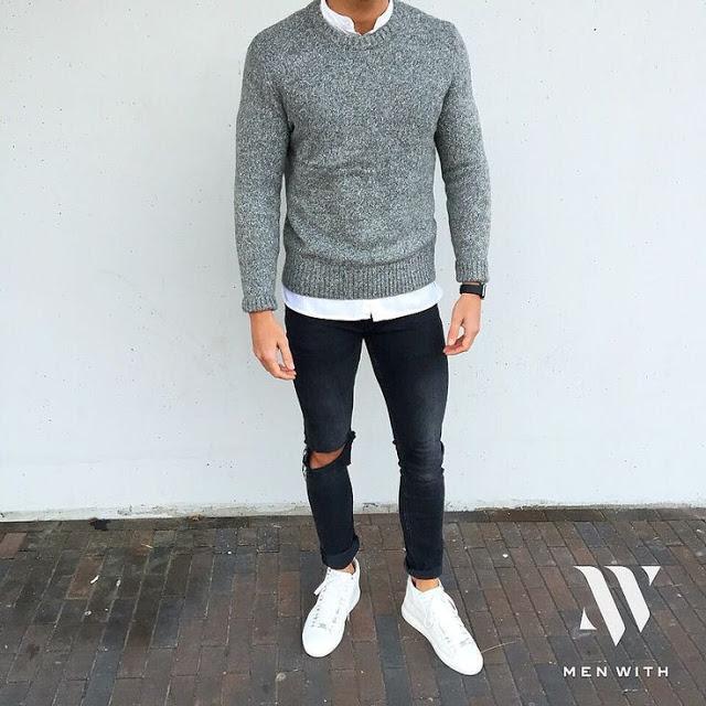 look masculino com suéter