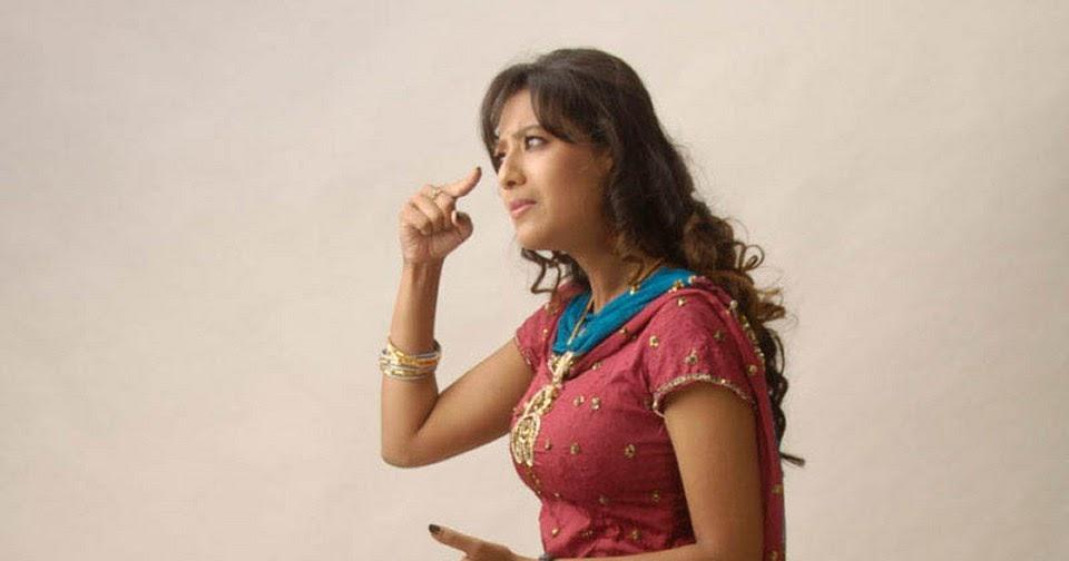 Actress Madalasa Sharma Sizzling Side View In A Super