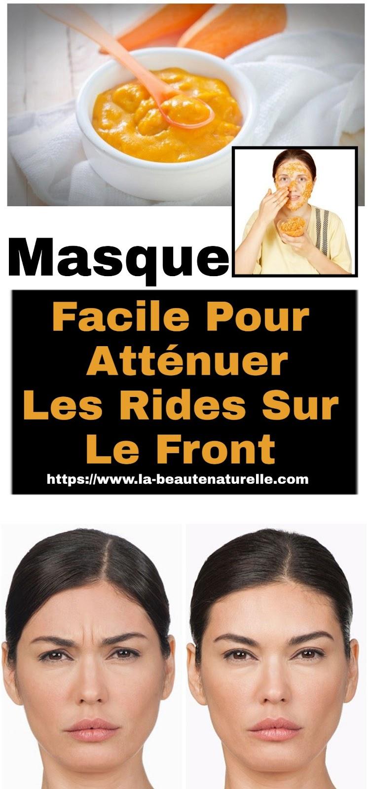 Masque Facile Pour Atténuer Les Rides Sur Le Front