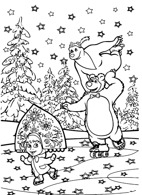 Desenhos Masha E O Urso Para Colorir Casa E Festas