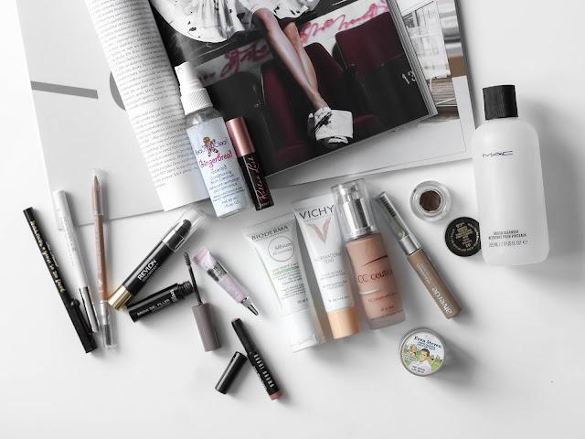 spotřebované makeupy, bb krémy, produkty na obočí
