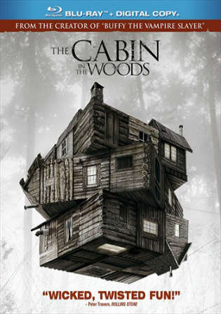 The Cabin In The Woods 2012 BRRip 300MB Hindi Dual Audio 720p Watch Online Full movie Download bolly4u