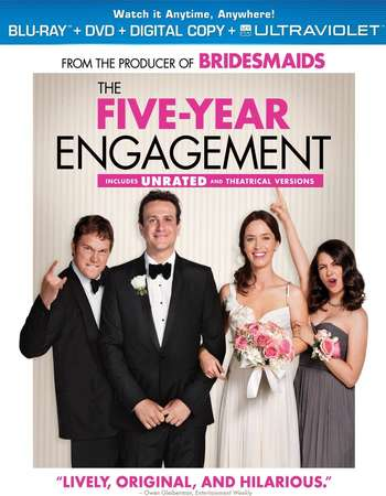 Poster Of The Five-Year Engagement 2012 English 350MB BRRip 480p ESubs Watch Online Free Download Worldfree4u
