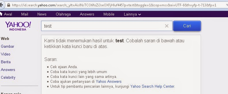 bing - yahoo search problem on 3 january 2015