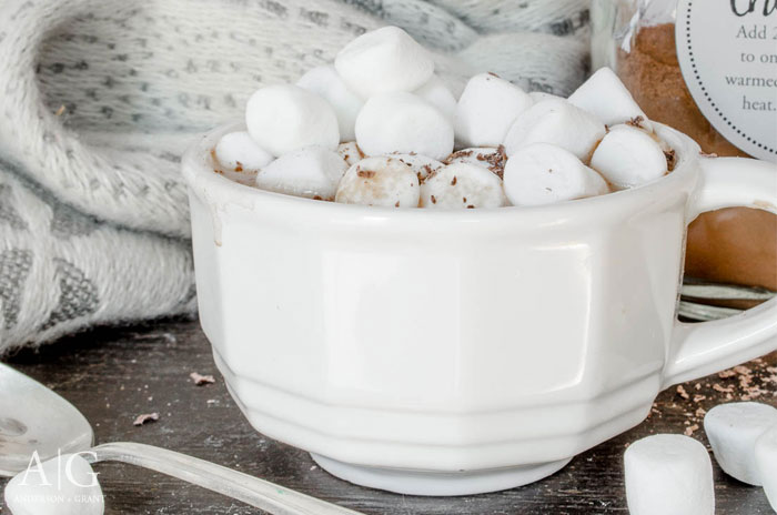 During these cold winter days, you need this recipe for Peanut Butter Hot Chocolate to warm you up!  ||  www.andersonandgrant.com