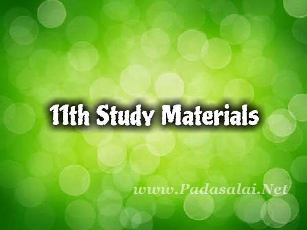 11th Study Materials Download ~ Padasalai No 1 Educational Website