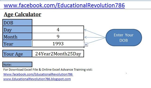 age calculator microsoft excel template educational revolution