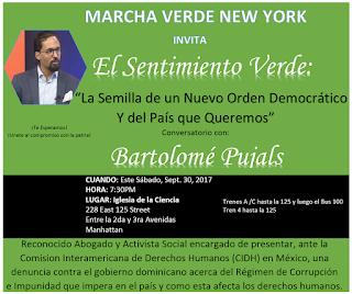 Marcha Verde en NY auspicia conferencia con el Abogado Bartolome Pujals