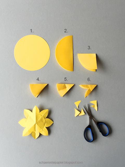schaeresteipapier sonnenblumen die zauberhafte variante