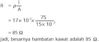 Jawaban soal fisika tentang listrik dinamis nomor 1