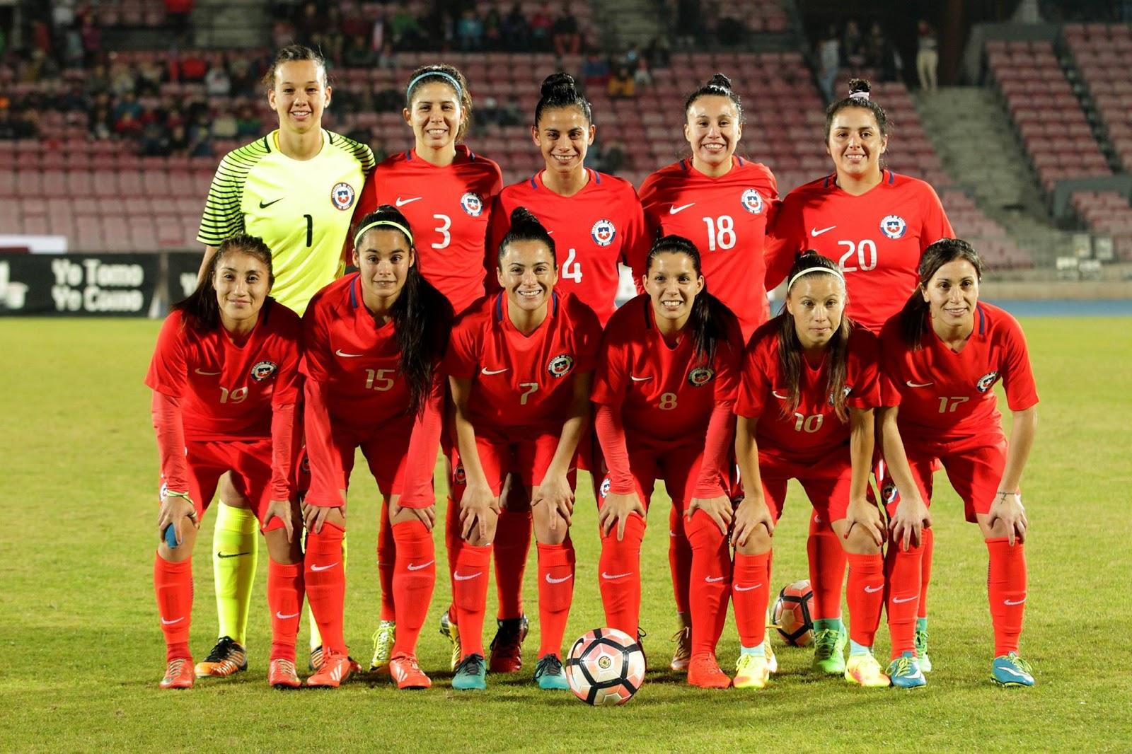 Formación de selección femenina de Chile ante Perú, amistoso disputado el 28 de mayo de 2017