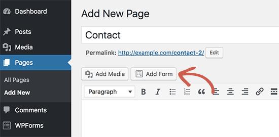 Tambahkan formulir ke halaman kontak Anda